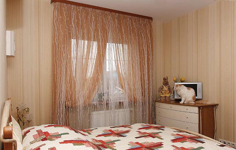 Дизайн тюль в спальню